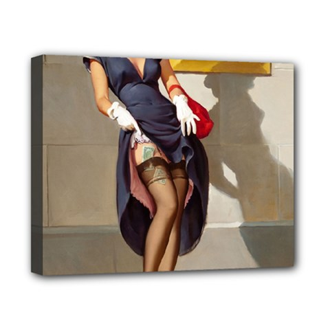 Retro Pin Up Girl Canvas 10  X 8  (framed) by PinUpGallery