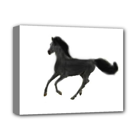 Running Horse Deluxe Canvas 14  X 11  (framed) by mysticalimages