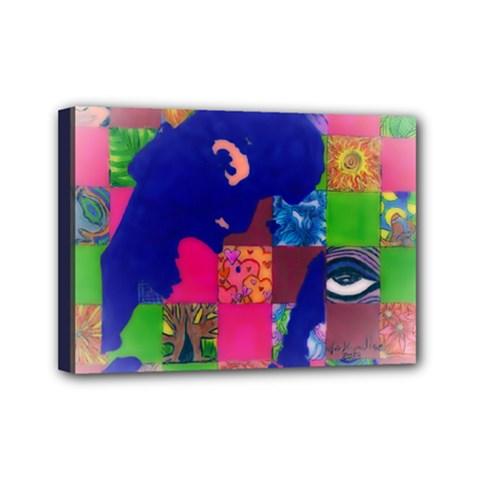 Busy Work Mini Canvas 7  X 5  (framed) by JacklyneMae