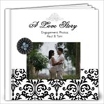 12x12  (20 pages) B/W Simple Engagement/Wedding - 12x12 Photo Book (20 pages)