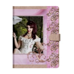 Apple iPad 3/4 Woven Pattern Leather Folio Case Closed
