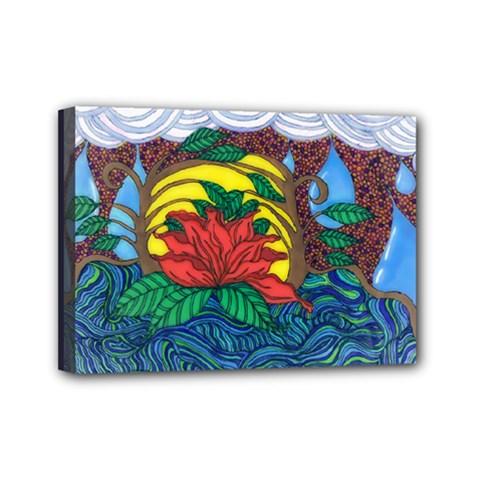 A Rose Mini Canvas 7  X 5  (framed)
