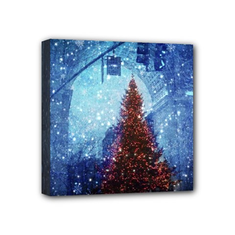 Elegant Winter Snow Flakes Gate Of Victory Paris France Mini Canvas 4  X 4  (framed) by chicelegantboutique