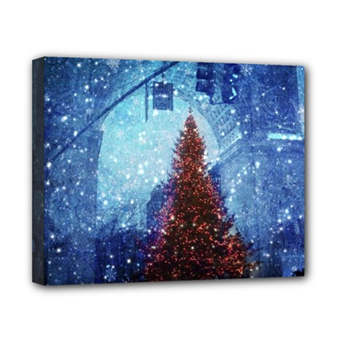 Elegant Winter Snow Flakes Gate Of Victory Paris France Canvas 10  X 8  (framed) by chicelegantboutique