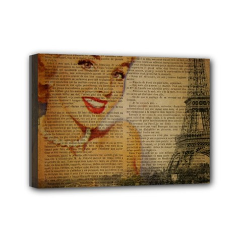 Yellow Dress Blonde Beauty   Mini Canvas 7  X 5  (framed) by chicelegantboutique