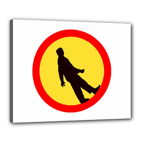 Walking Traffic Sign Canvas 20  x 16  (Framed) by youshidesign