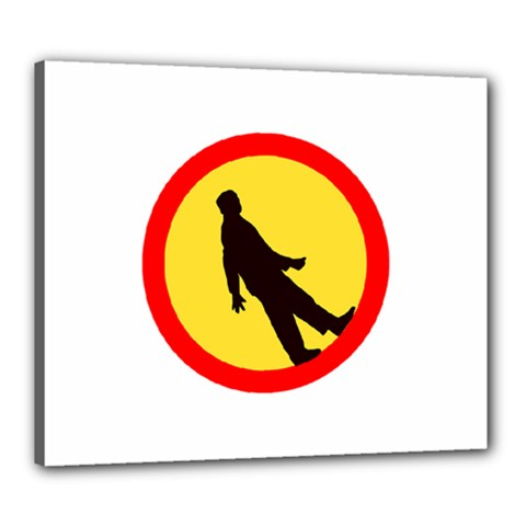 Walking Traffic Sign Canvas 24  X 20  (framed) by youshidesign