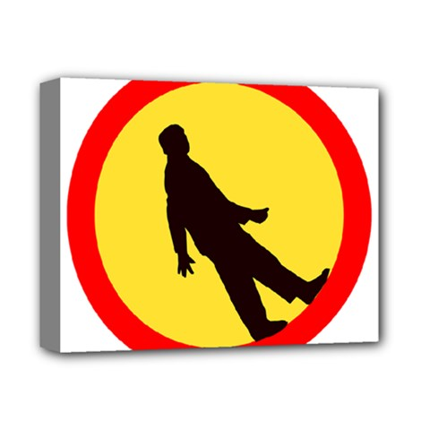 Walking Traffic Sign Deluxe Canvas 14  X 11  (framed) by youshidesign