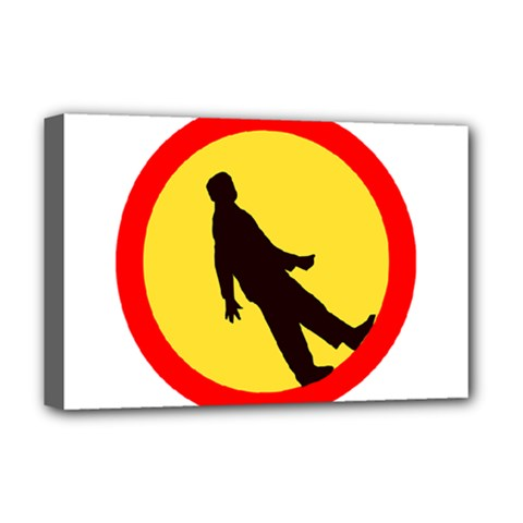 Walking Traffic Sign Deluxe Canvas 18  X 12  (framed) by youshidesign