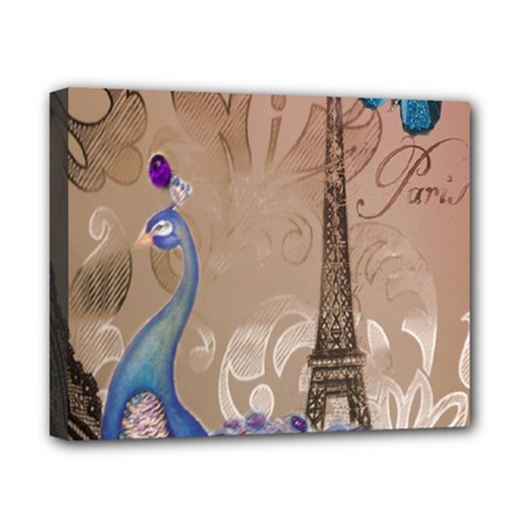 Modern Butterfly  Floral Paris Eiffel Tower Decor Canvas 10  X 8  (framed) by chicelegantboutique