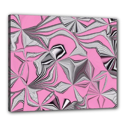 Foolish Movements Pink Effect Jpg Canvas 24  x 20  (Framed) by ImpressiveMoments