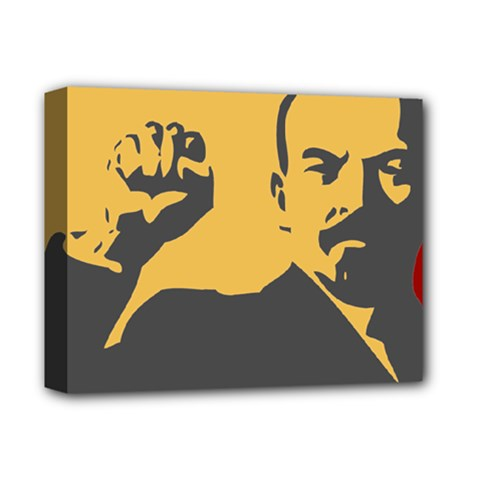 Power With Lenin Deluxe Canvas 14  X 11  (framed) by youshidesign