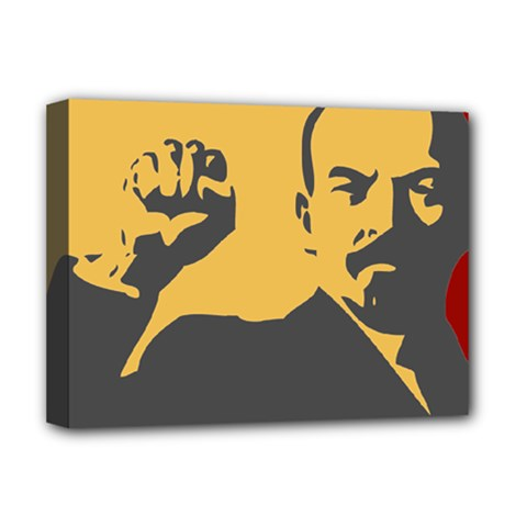 Power With Lenin Deluxe Canvas 16  X 12  (framed)  by youshidesign