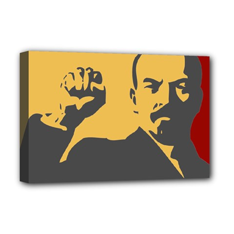 Power With Lenin Deluxe Canvas 18  X 12  (framed) by youshidesign
