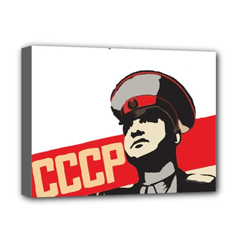 Soviet Red Army Deluxe Canvas 16  X 12  (framed)  by youshidesign