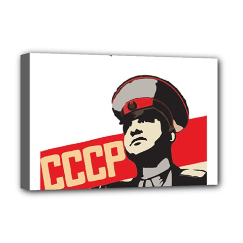 Soviet Red Army Deluxe Canvas 18  X 12  (framed) by youshidesign