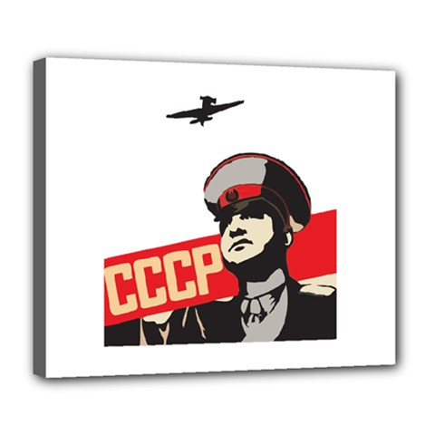 Soviet Red Army Deluxe Canvas 24  X 20  (framed) by youshidesign