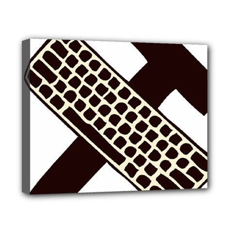 Hammer And Keyboard  Canvas 10  X 8  (framed) by youshidesign