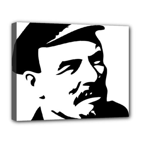 Lenin Portret Deluxe Canvas 20  X 16  (framed) by youshidesign