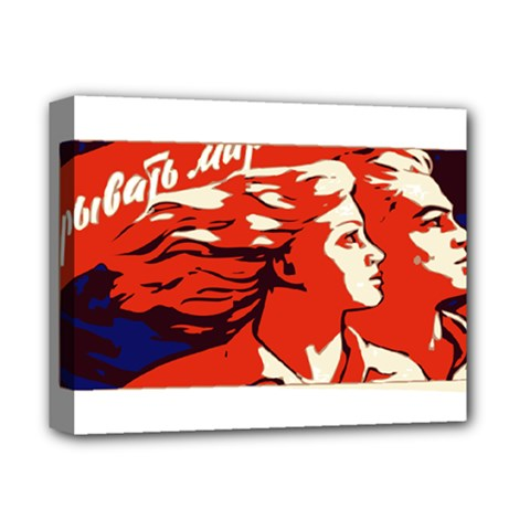 Communist Propaganda He And She  Deluxe Canvas 14  X 11  (framed) by youshidesign