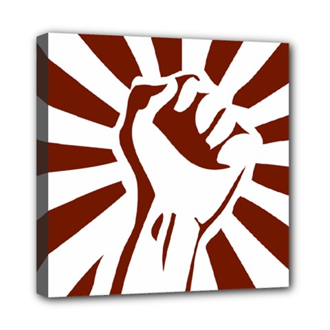 Fist Power Mini Canvas 8  X 8  (framed) by youshidesign