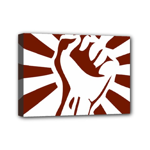 Fist Power Mini Canvas 7  X 5  (framed) by youshidesign