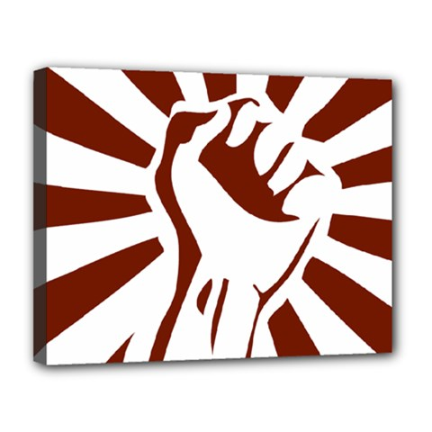 Fist Power Canvas 14  X 11  (framed) by youshidesign