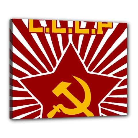 Hammer And Sickle Cccp Canvas 20  X 16  (stretched) by youshidesign