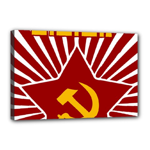Hammer And Sickle Cccp Canvas 18  X 12  (stretched) by youshidesign