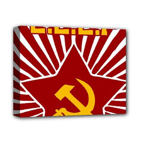Hammer And Sickle Cccp Deluxe Canvas 14  X 11  (stretched) by youshidesign