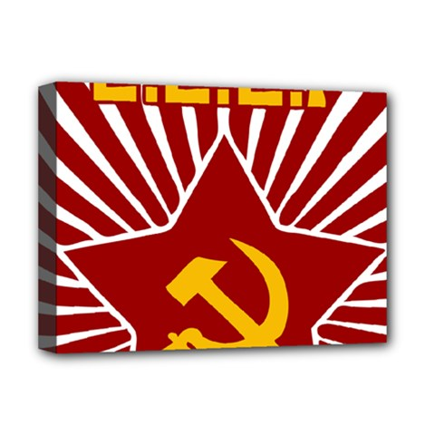 Hammer And Sickle Cccp Deluxe Canvas 16  X 12  (stretched)  by youshidesign