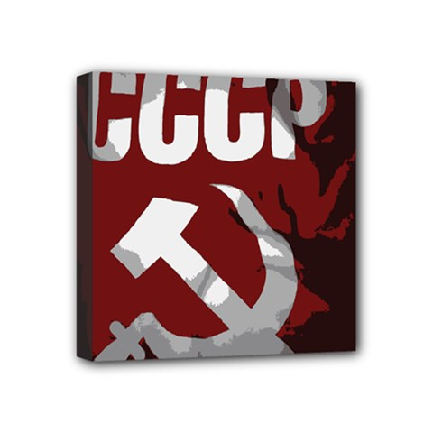 Cccp Soviet Union Flag Mini Canvas 4  X 4  (stretched) by youshidesign