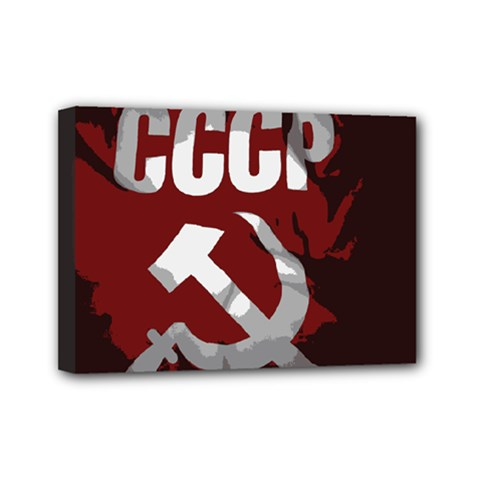 Cccp Soviet Union Flag Mini Canvas 7  X 5  (stretched) by youshidesign