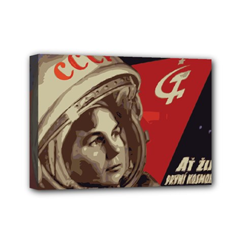 Soviet Union In Space Mini Canvas 7  X 5  (framed) by youshidesign