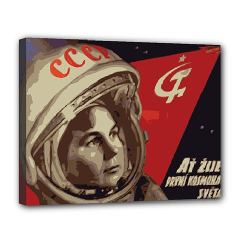 Soviet Union In Space Canvas 14  X 11  (framed) by youshidesign