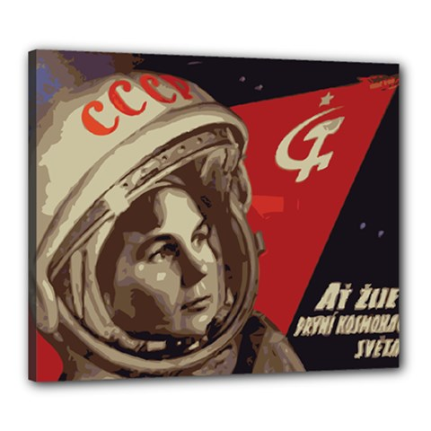 Soviet Union In Space Canvas 24  X 20  (framed) by youshidesign
