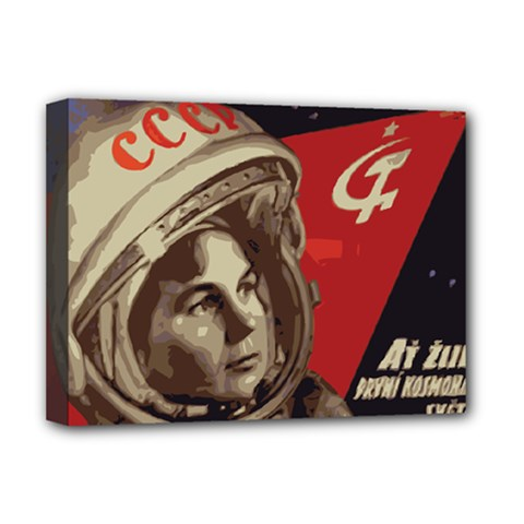 Soviet Union In Space Deluxe Canvas 16  X 12  (framed)  by youshidesign