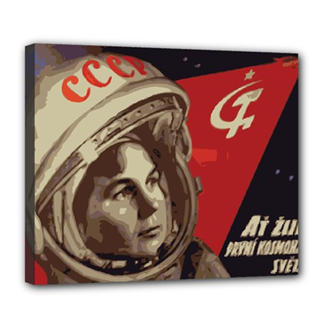 Soviet Union In Space Deluxe Canvas 24  X 20  (framed) by youshidesign