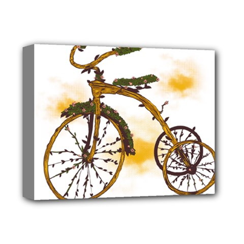 Tree Cycle Deluxe Canvas 14  X 11  (framed) by Contest1753604