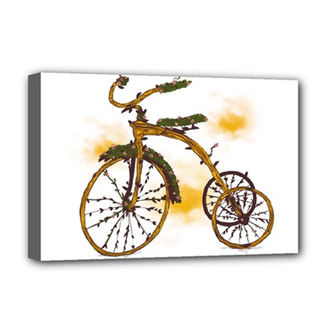 Tree Cycle Deluxe Canvas 18  X 12  (framed) by Contest1753604