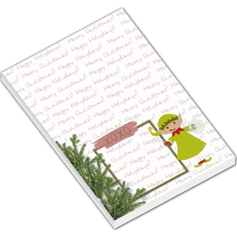 Elf Helper Memopad By Zornitza   Large Memo Pads   480bjm61d585   Www Artscow Com