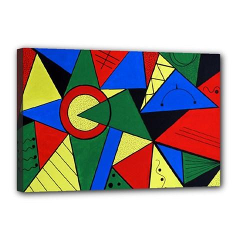 Modern Art Canvas 18  X 12  (framed)