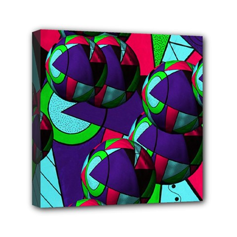 Balls Mini Canvas 6  X 6  (framed) by Siebenhuehner