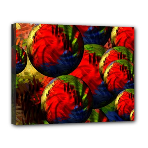 Balls Canvas 14  X 11  (framed) by Siebenhuehner
