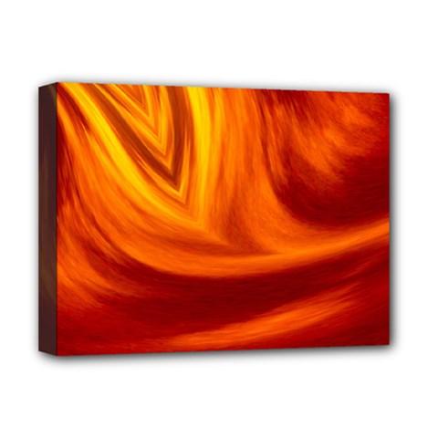 Wave Deluxe Canvas 16  X 12  (framed)  by Siebenhuehner