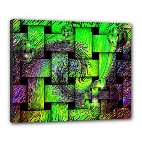Modern Art Canvas 20  X 16  (framed) by Siebenhuehner
