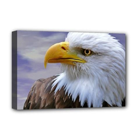 Bald Eagle Deluxe Canvas 18  X 12  (framed) by Siebenhuehner