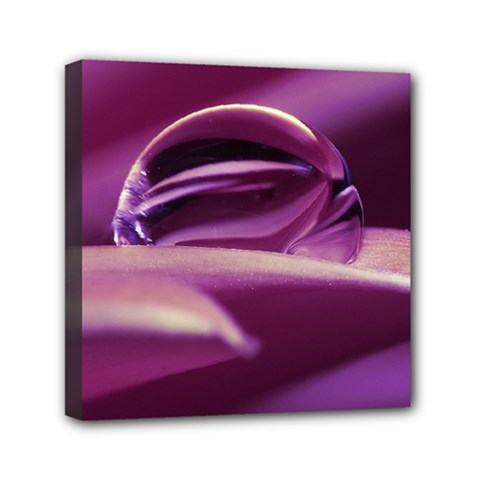 Waterdrop Mini Canvas 6  x 6  (Framed)