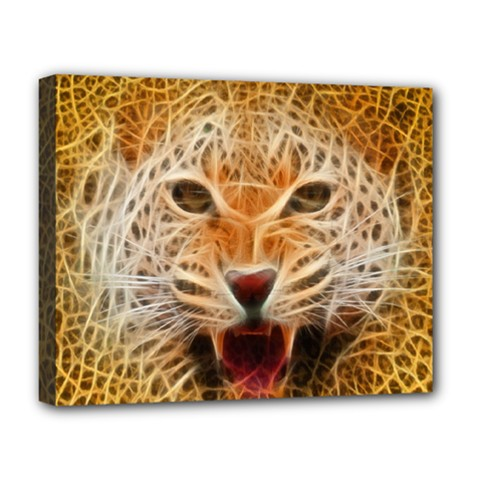 Jaguar Electricfied Deluxe Canvas 20  X 16  (framed) by masquerades