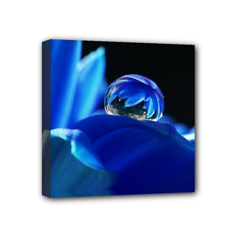 Waterdrop Mini Canvas 4  X 4  (framed) by Siebenhuehner